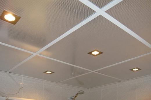 Алюминиевый потолок для ванной фото