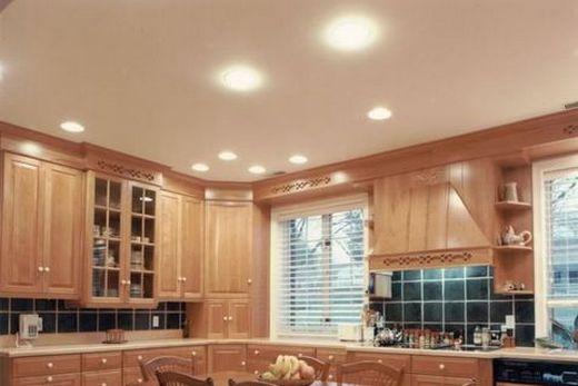 Матовый потолок для кухни в провансальском стиле
