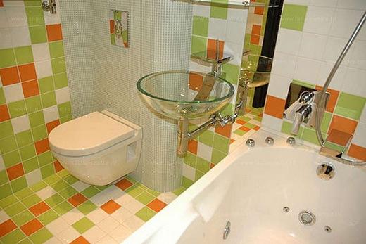 Отделка хрущёвской ванной комнаты плиткой
