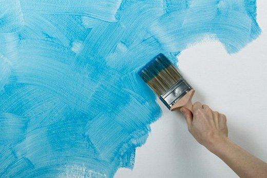 Покраска латексной крской