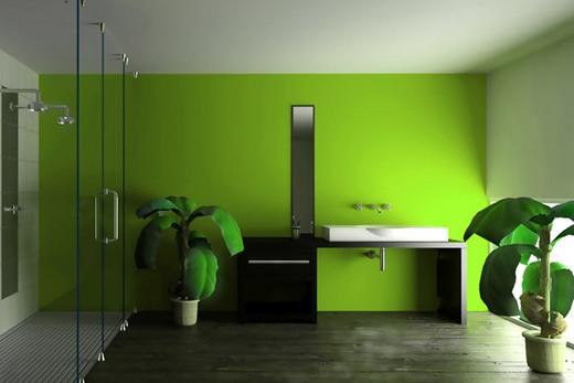 Ремонт ванной комнаты с покраской стен и потолка