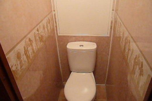 МДФ панели на стенах в туалете