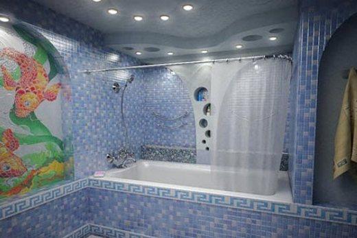 Освещение ванной комнаты светодиодными светильниками