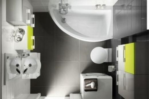 Ванная комната, в которой принесена в жертву полноразмерная ванна