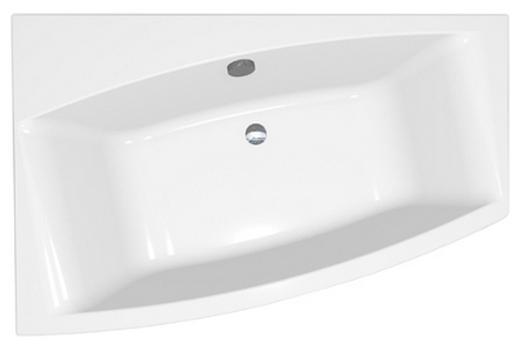 Ассиметричная акриловая ванна 150х90 см