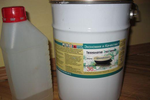Полимерная основа и отвердитель для приготовления жидкого акрила, фото
