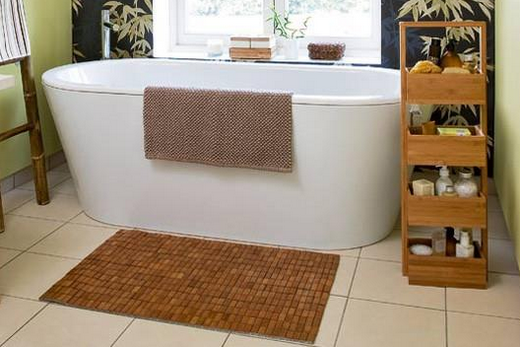 бамбуковый коврик для ванной