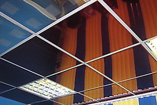 Кассетный потолок «Албес», смонтированный открытым способом