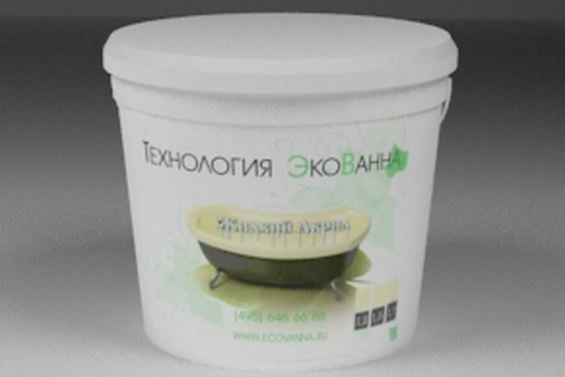 Жидкий акрил «ЭкоВанна» в упаковке, фото