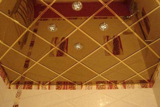 Кассетный потолок в ванной