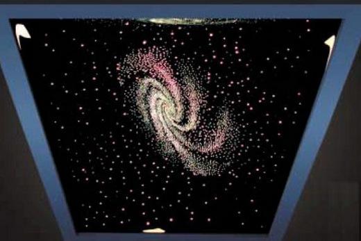 Рисунок звёздного неба на натяжном потолке