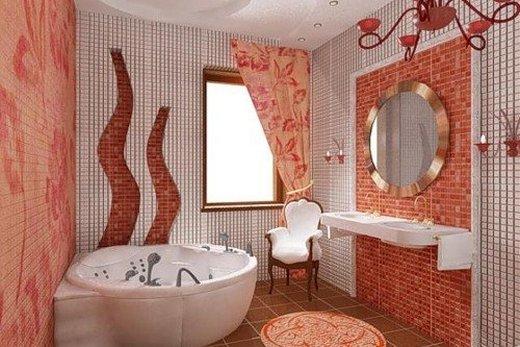 Гипсокартон с мозаичными инсталляциями для отделки ванной комнаты