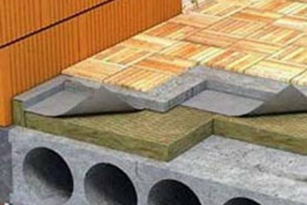 Теплоизоляция бетонного пола под стяжку