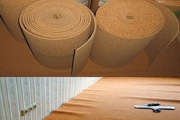 Утепление бетонного пола пробковым утеплителем
