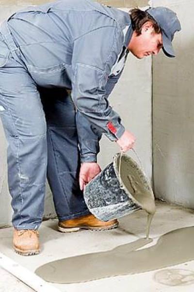 Замена бетонного пола в квартире