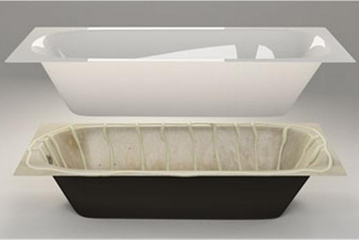 Починка чугунной ванны при помощи акрилового вкладыша