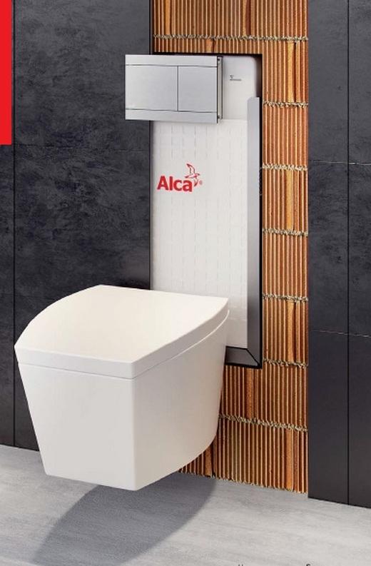Фотография инсталляции Alcaplast с унитазом вот какие бюджетные цены!