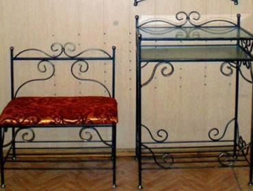 Кованная мебель для прихожей, фото