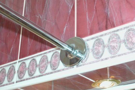 Карниз для ванной (нержавеющая сталь), фото