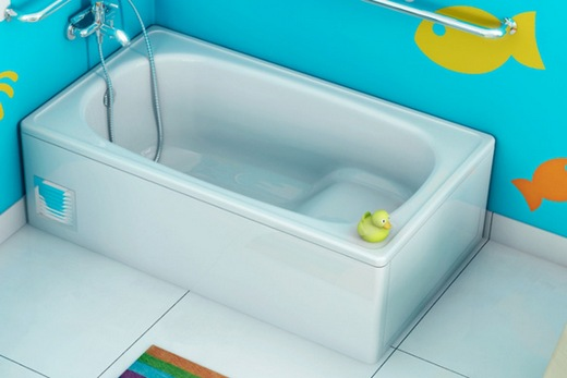 Сидячая ванна из стали, фото