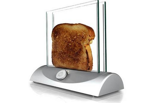 Прозрачный тостер в интерьере