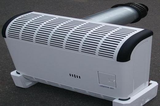 Газовый конвектор оснащен вентилятором
