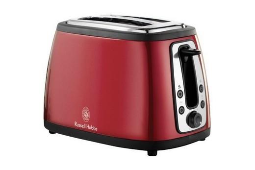 Красный тостер с кнопкой отключения в интерьере