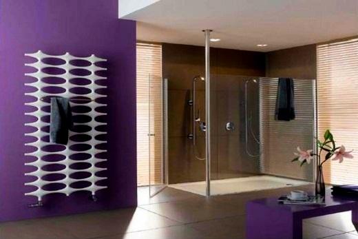 Интерьер ванной комнаты с Керми радиатором