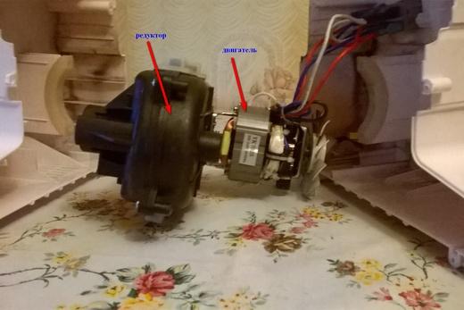 Двигатель и редуктор для мясорубки, фото