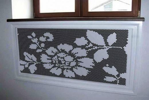 Декоративный перфорированный экран