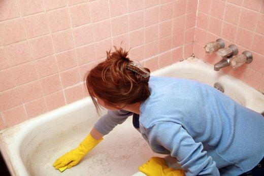 Предварительная подготовка поверхности ванны, фото