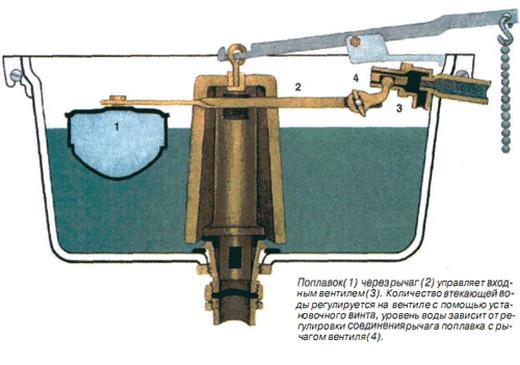 Фотография конструкции унитаза со сливом «Колокол»