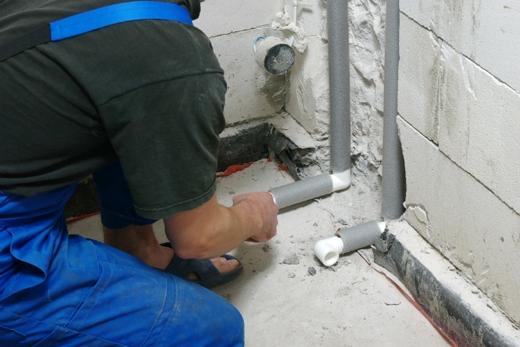 Монтаж водопровода для подключения встроенного смесителя, фото