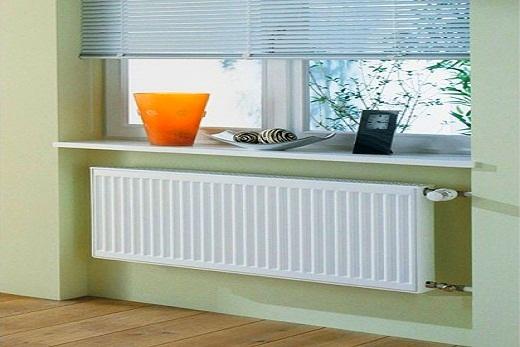 Интерьер помещения с радиатором бренда Керми серии fko тип 22