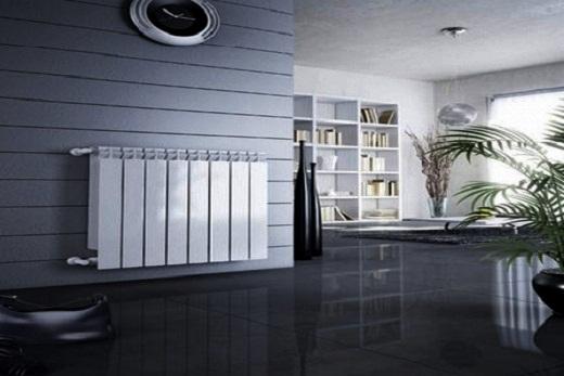 Интерьер дома с приборами отопления из алюминия бренда Global
