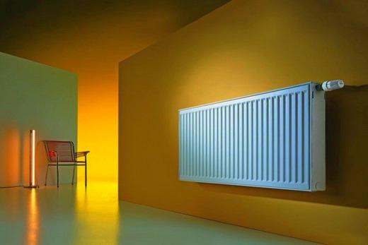 Как элемент домашнего дизайна Кальде прибор отопления из алюминия