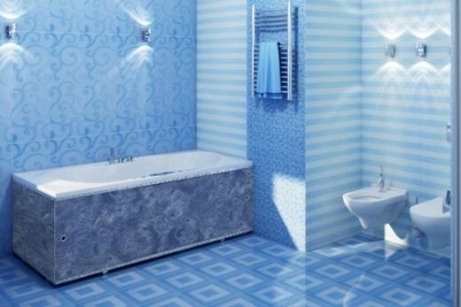 Ванна пластиковыми панелями облицованная