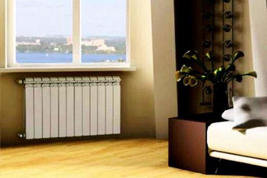 Сира радиатор в оформлении дизайна спальни