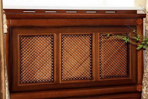 Батарея «Массив» с деревянным экраном