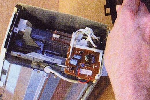 Проверка внутренних механизмов прибора, фото