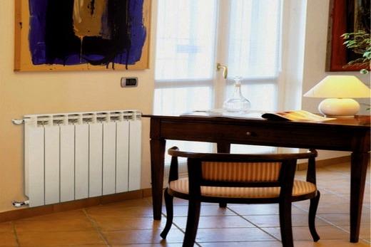 Интерьер дома с радиаторами бренда Глобал стайл
