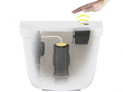 Фотография сенсорного слива воды