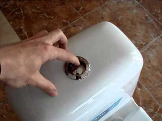 Фотография двухрежимного механизма слива воды