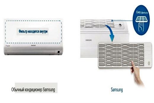 Samsung AR09HQFNAWKNER кондиционер легко чистить и ухаживать за ним