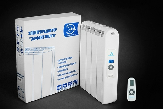 Радиатор «Эконом» электрического типа с упаковкой