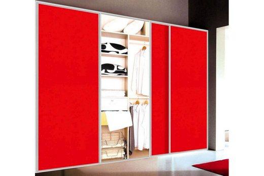 Красный шкаф-купе в прихожей, фото