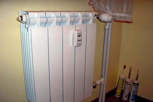 Установка счетчика тепла на отопительную батарею