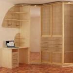 Угловой шкаф купе современного дизайна