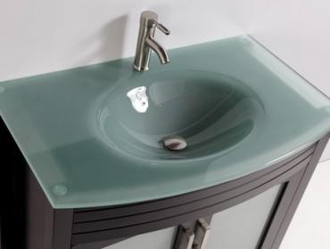 Раковина для ванной, встроенная в тумбу, фото