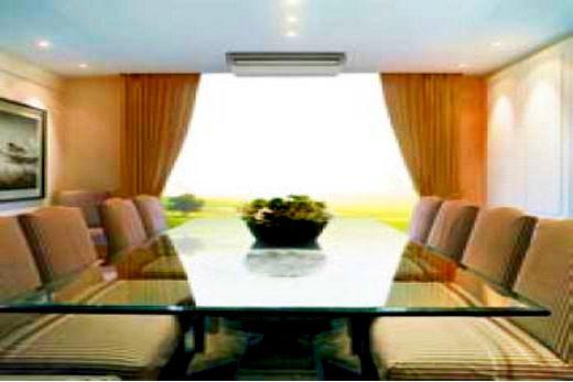 Daikin кондиционер размещен на потолке